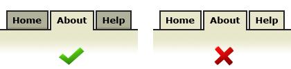 Usabilidad en pestañas