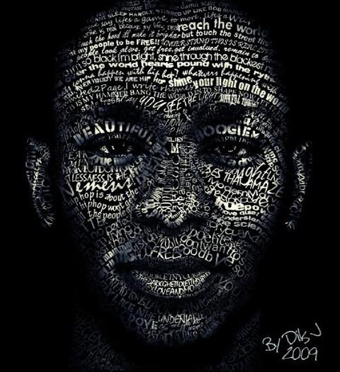 Retrato tipográfico de Cris Wicks
