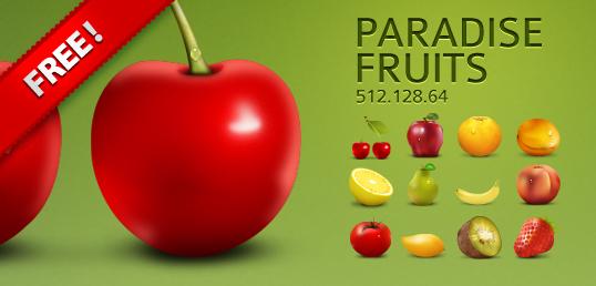 Pack de frutas hiperrealistas en vector