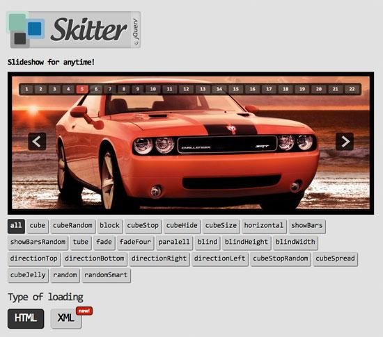 Skitter, un slideshow en jQuery