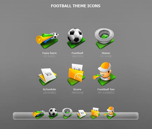 Iconos de futbol en PNG
