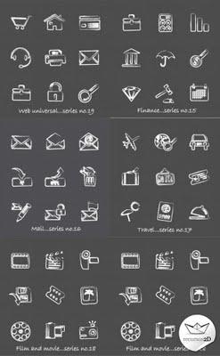 Pack completo de iconos a mano alzada