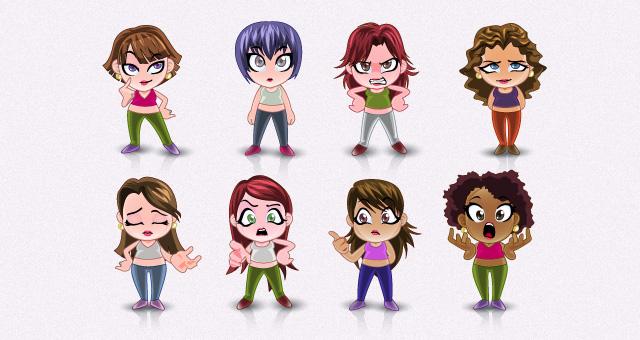 Caricaturas Mujeres