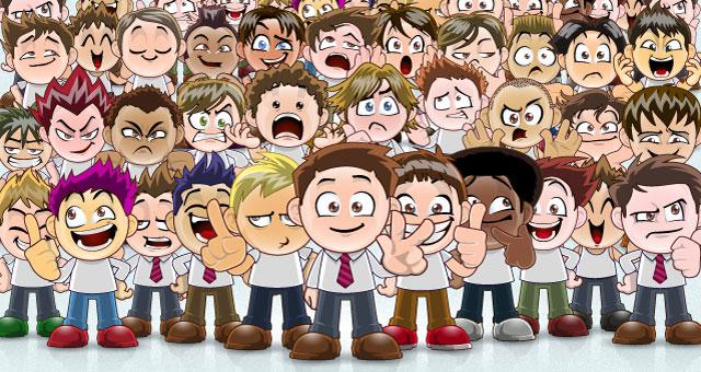 Caricaturas de hombres