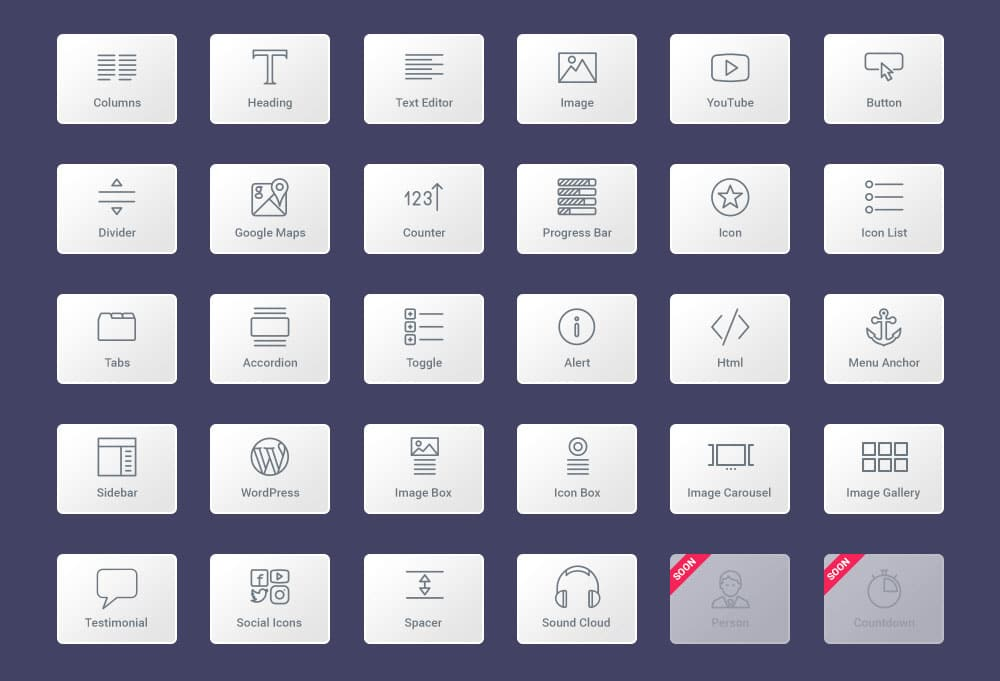 Widgets Elementor Pro